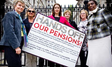 Rachel Reeves and pension campaigners