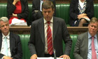 Paul Burstow addresses MPs in the Commons