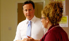 David Cameron in University College Hospital