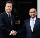 The Crown Prince of Bahrain, Salman bin Hamad Al Khalifa, with David Cameron at No 10 on 19 May 2011