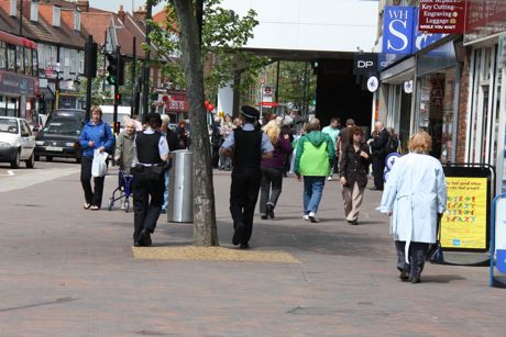 police officers patrol Bromley