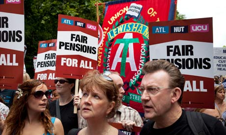 pensions strike