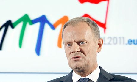 Polish prime minister Donald Tusk assumes presidency of the EU