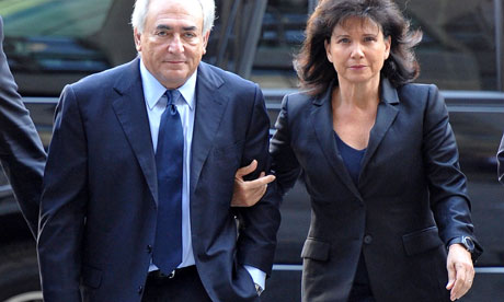 dominique strauss-kahn victim. Dominique Strauss-Kahn and his wife, Anne Sinclair, on the steps of