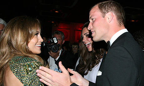 Jennifer Lopez meets the Duke and Duchess of Cambridge