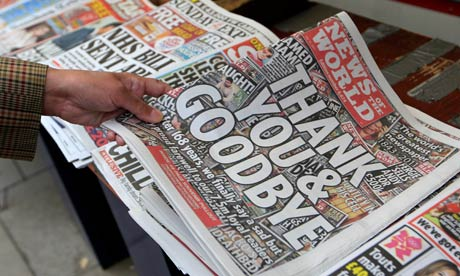 The final edition of the News of the World.