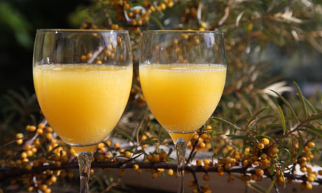How to make sea buckthorn fizz