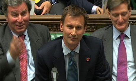 Jeremy Hunt addressing parliament