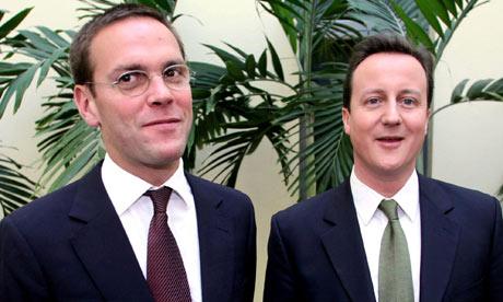 James Murdoch with David Cameron in 2007