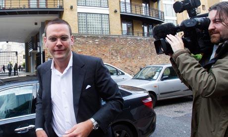News International Chairman James Murdoch arrives at News International in London