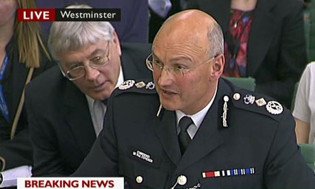 Sir Paul Stephenson gives evidence to the Home Affairs Select Committee