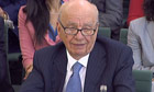 Rupert Murdoch struggled with answers to the committee's questions