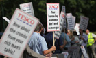 Tesco AGM protest