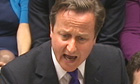 David Cameron fields questions in the Commons