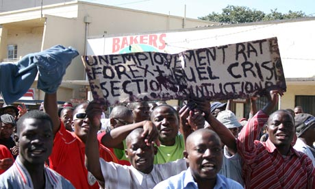 Anti-government protesters demonstrate in Lilongwe, Malawi