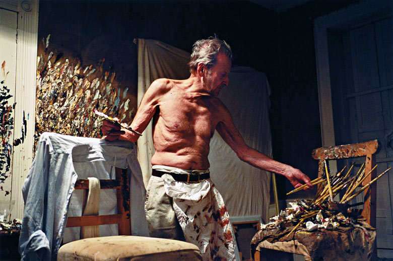 Lucian Freud Working at Night, 2005