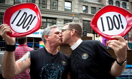 Gay couple Pastor Mark Erson, left, and Scott Jordan plan to marry in ...