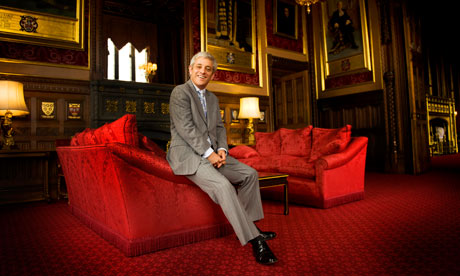John Bercow in Speaker's House in Westminster Palace.
