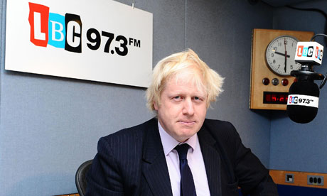 The London mayor, Boris Johnson, wants a 'manifesto for growth' for the UK economy