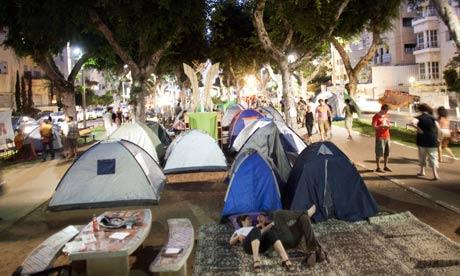 Tent camp in Tel Aviv