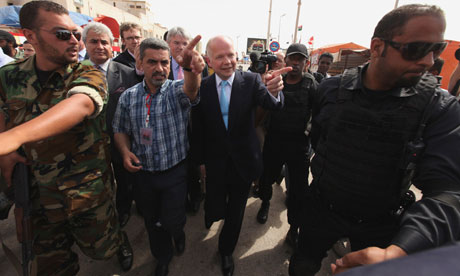 William Hague in Benghazi
