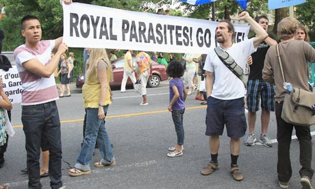 The Duke and Duchess of Cambridge were greeted by protesters in Montreal