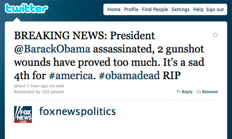 Fox News tweet