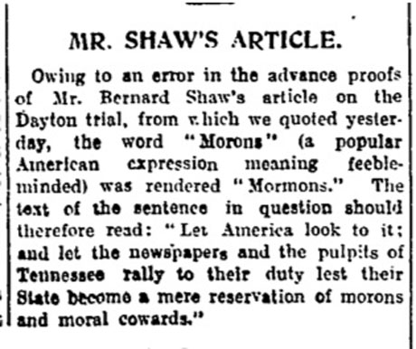 shaw correction