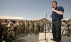 David Cameron at Camp Bastion