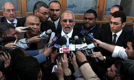 Mohammed Badie, the head of Egypt's Muslim Brotherhood
