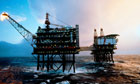 North Sea oil rigs
