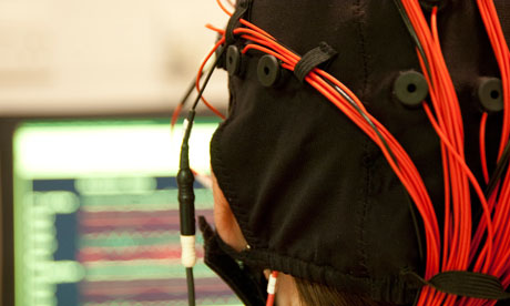 An EEG demonstration at Royal Society's Summer Science Live exhibition