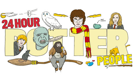 harry potter marathon illustration