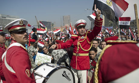 An Egyptian army band