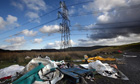 Rubbish dumped in Merthyr Tydfil in south Wales, which has the highest rate of joblessness in the UK