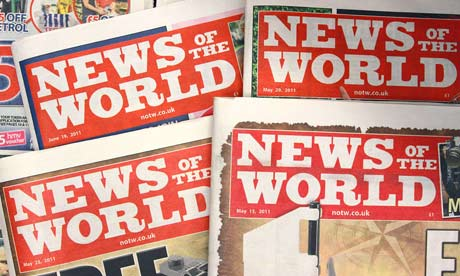 Copies of the News of the World newpaper