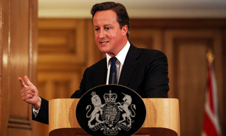 David Cameron speaks about phone hacking