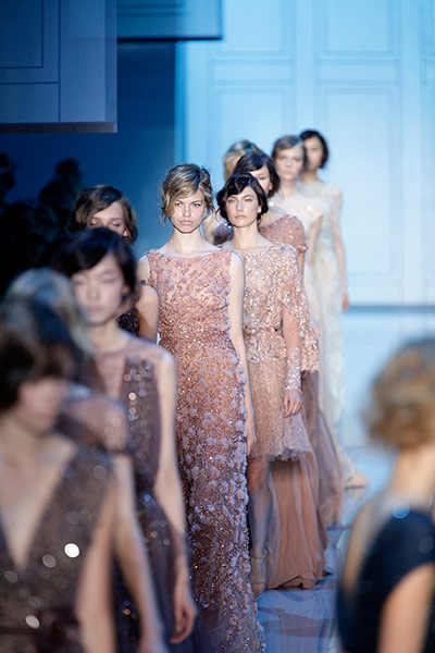Paris Haute Couture: Elie Saab Haute Couture 2011/2012 collection Paris