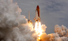 Space shuttle Atlantis STS-135 lifts off