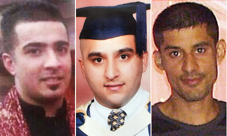 Haroon Jahan, Shezad Ali and Abdul Musavir who were killed in Winson Green, Birmingham