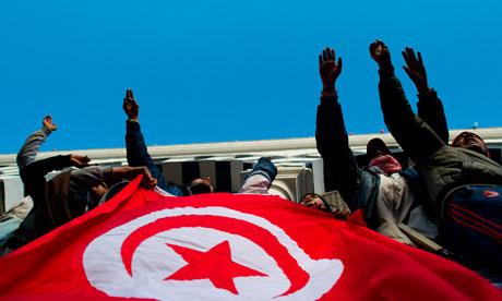 Tunisia protestors January 24 2011