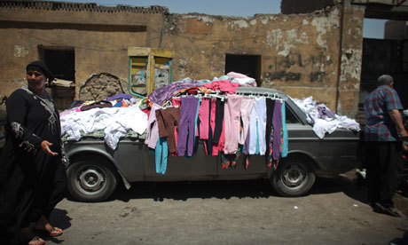 Egyptian selling clothing