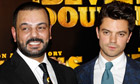 Latif Yahia and actor Dominic Cooper