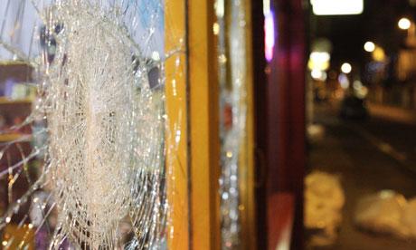 Ealing riot damage