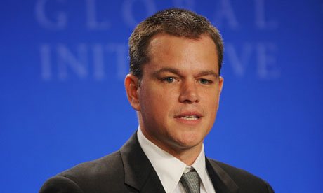 US actor Matt Damon, founder of H2O Afri