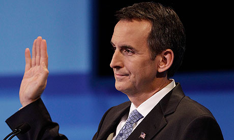Tim Pawlenty during the Iowa Republican debate