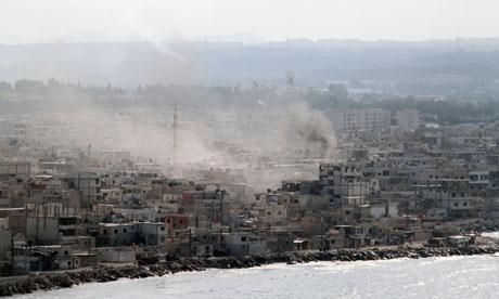 Smoke billows from southern Latakia, Syria