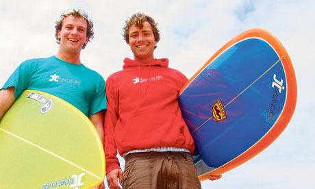 Linley Lewis and Will Hayler, who started their own gap year business