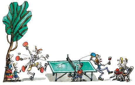 Tim Dowling: ping pong