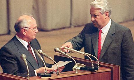 Mikhail Gorbachev and boris yeltsin